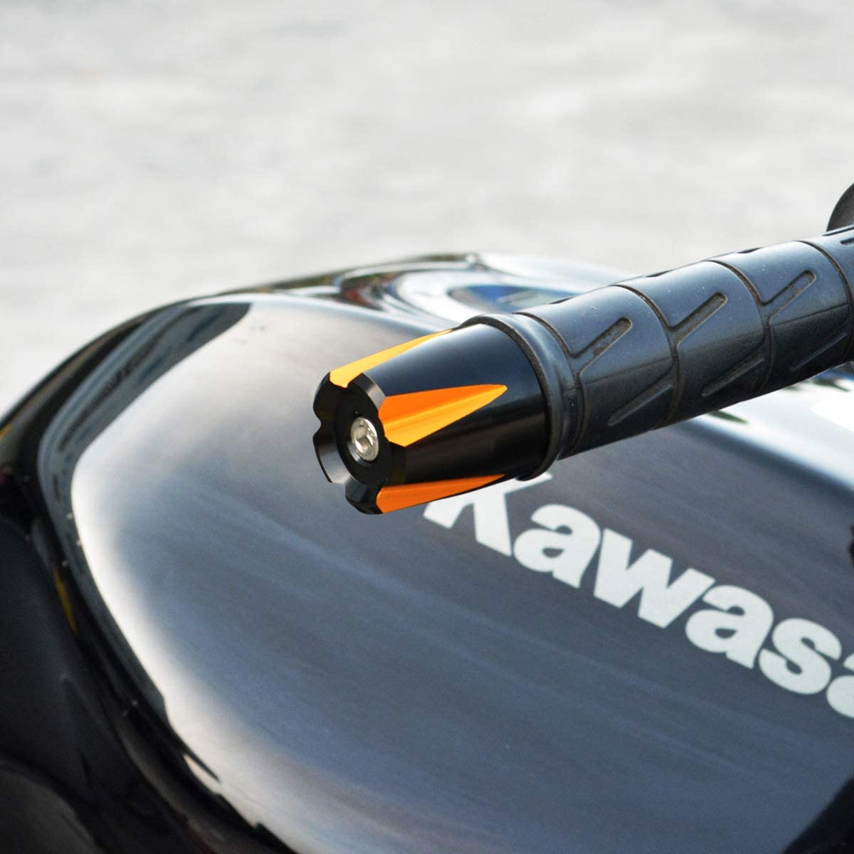 for 7//8 and 1 Bars Black//Silver NEX Performance Motorcycle Two Tone 24H Bar End