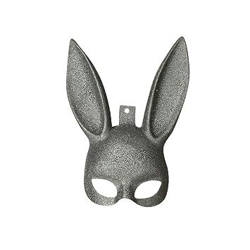 Tinksky Máscara de conejo Máscara de conejito Máscara de conejo Fiesta de Pascua Disfraz de Cosplay