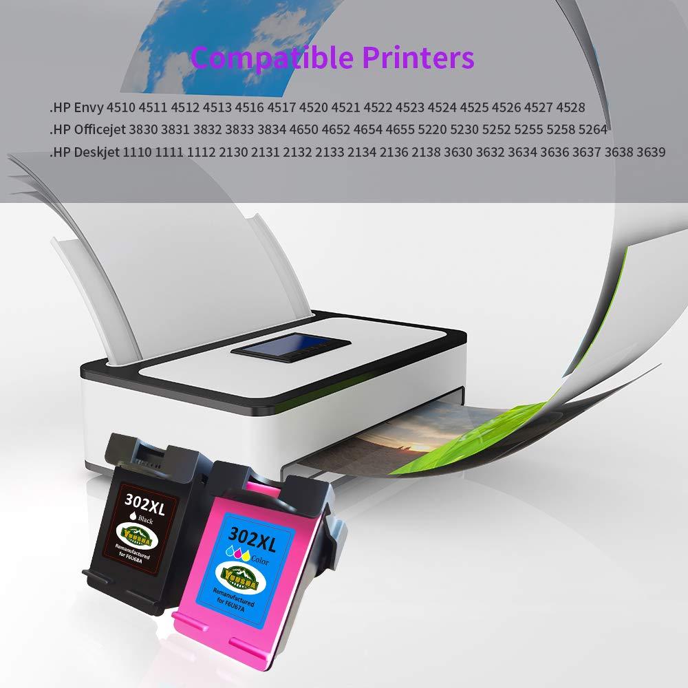 YUUSHA 302XL Remanufacturado Cartucho de Tinta Reemplazo para HP ...