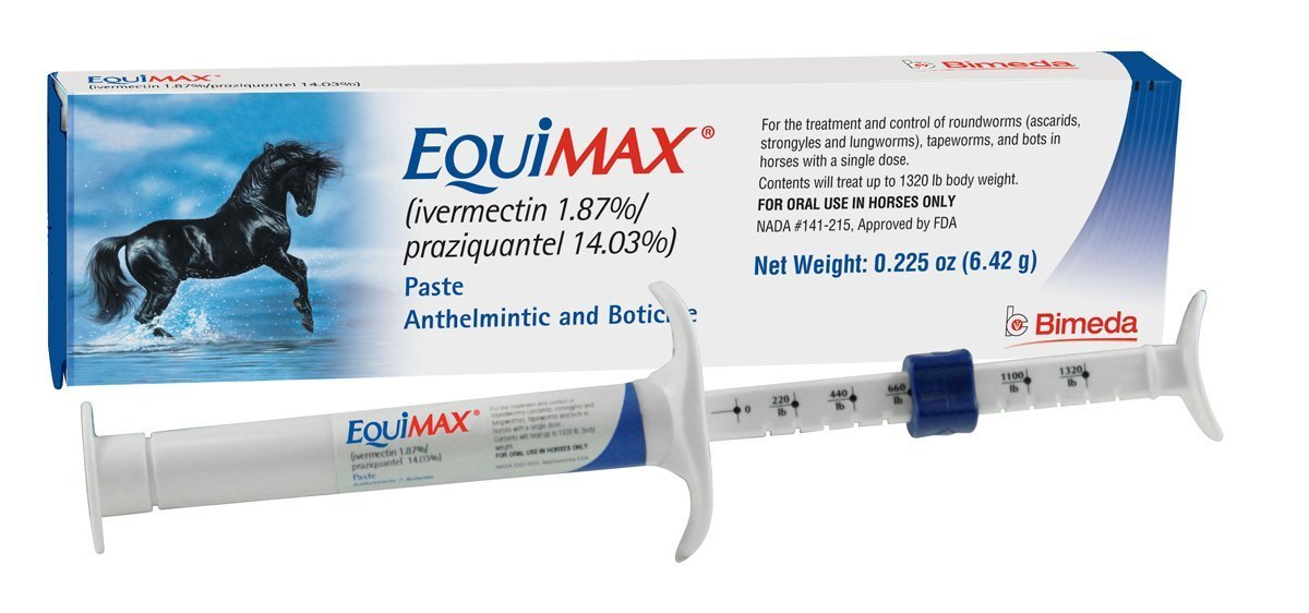 Equimax Horse Wormer Ivermectin 1.87% and Praziquantel 14.03% Paste Tube