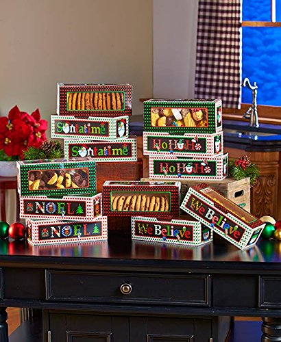 Holiday Treat Goodie Boxes - Set of 12
