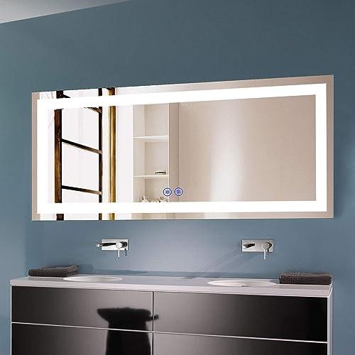 D-HYH Horizontal Dimmable LED Bathroom Mirror