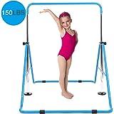 DOBESTS Gymnastics Bar Kids Gymnastic Equipment for Home Folding Junior Training Bars Expandable Kip Bar for 3-7 Years…
