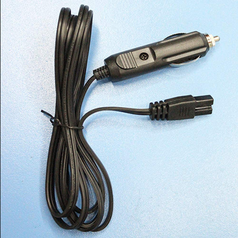 2m 12v Enfriador de Coche Caja fr/ía Mini Cable de Nevera Cable de conexi/ón de 2 Clavijas Cable de Repuesto Enchufe para Caja el/éctrica