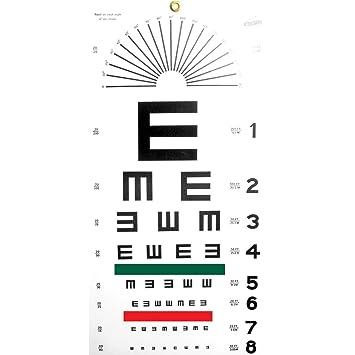 Amazon Illiterate Eye Chart Health Personal Care