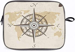 "Compass Compass Old 14"" Laptop Sleeve Compatible with Yoga 920/13.5"" Microsoft Surface Book"