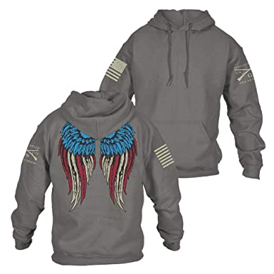 eff50114 Grunt Style Freedom Angel 2.0 Women's Hoodie, Color Grey, Size Large
