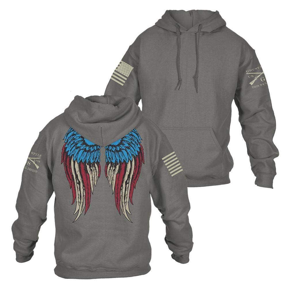 Grunt Style Freedom Angel 2.0 Women's Hoodie, Color Grey, Size Large