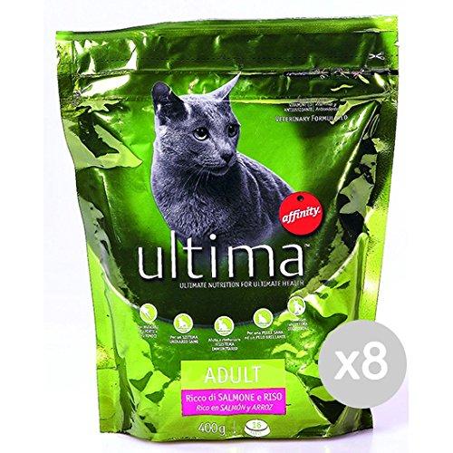 Ultima Juego 8 Gato 204 Croccantini Salmón y Arroz 400 g Comida para Gatos: Amazon.es: Productos para mascotas