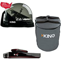 RV Wholesale Direct DTP4900 Dish Tailgater Satellite Bundle with Carry Bag & Wally - Premium Portable/Roof Mountable…