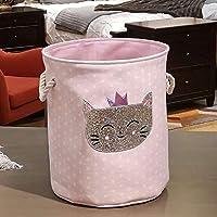 YuKeShop Smutsig tvättkorg rosa svan organiseringskorg dragsko förvaringskorgar för leksaker böcker D 35 x 40 cm…
