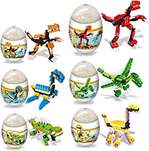 Giveaway: HOCHE 6 Pack Dinosaur Building Blocks Toys in Jumbo Easter...