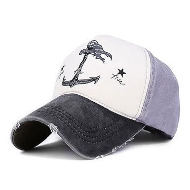 Llxln 5 Grupo De Hip Hop Gorras Snapback Hat Parejas Hombre Mujer 100% Algodón Gorras Gorras De Anclaje del Buque Lavada De Verano Negro Tapa: Amazon.es: ...