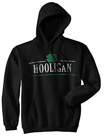 59266160 Crazy Dog T-Shirts Hooligan Shamrock Funny St. Patrick's Day Unisex  Drinking Hoodie for