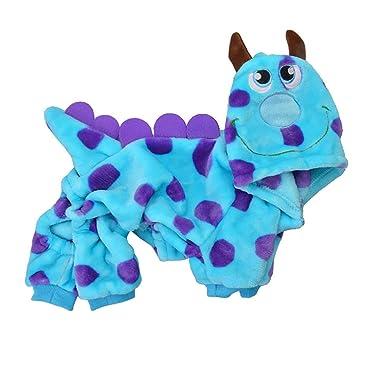 Fossrn Mascota Ropa de Invierno Perro Disfraz Dinosaurio Cachorro Gato Chaleco Camiseta Abrigo Vestido Suéter: Amazon.es: Ropa y accesorios