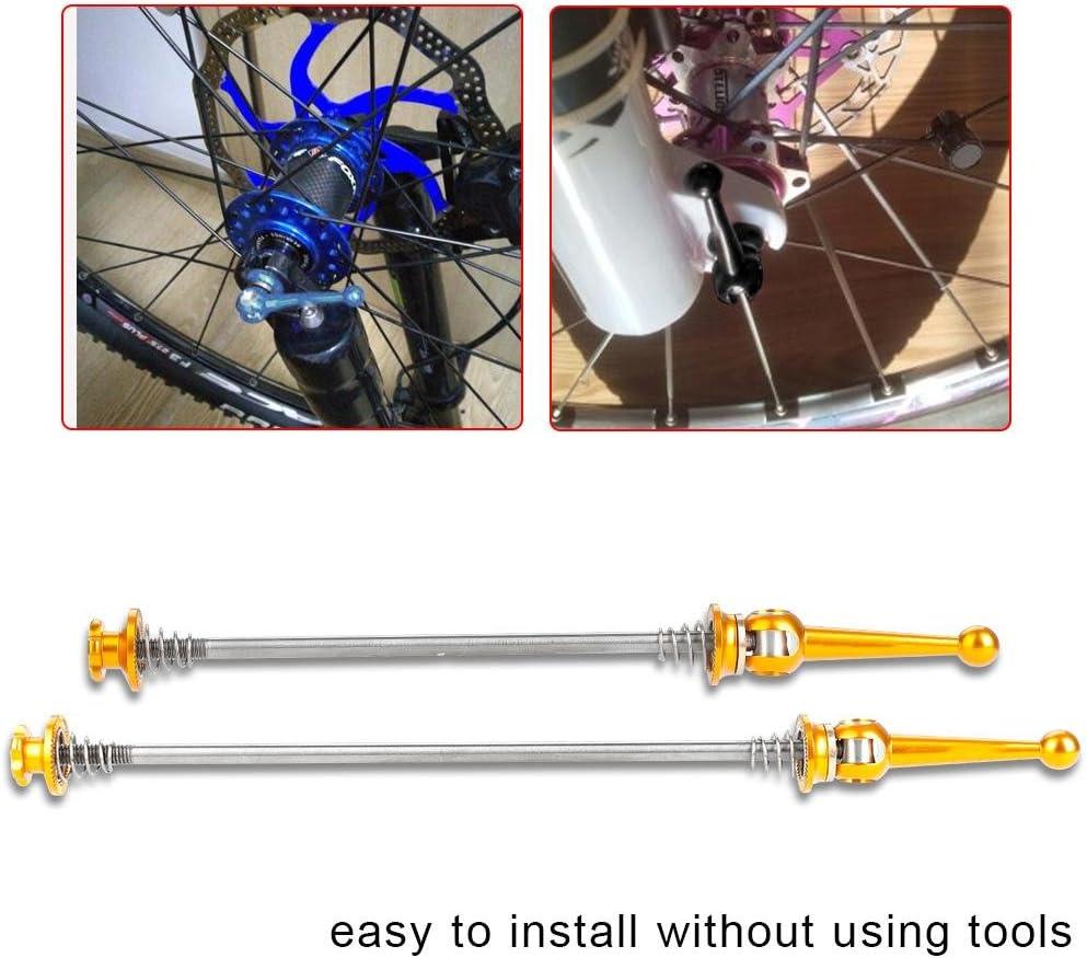 Spiedino Ultraleggero Sgancio Rapido Biciclette Bici Mozzo Ruota Anteriore e Posteriore per MTB Dioche Spiedino Biciclette
