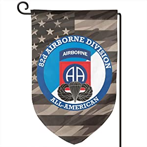 82nd Airborne with Jump Wings Decorative Garden Flag Home Decor Yard Banner 12.5X18 Inch Printed Double Sided Fillet