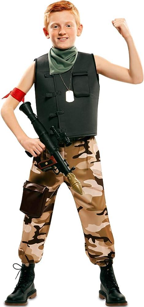 EUROCARNAVALES Disfraz de Soldado de Combate para niño: Amazon.es ...