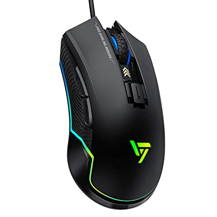 VicTsing Pro RGB Gaming Mouse Wired, 16 8 Million Chroma RGB Color