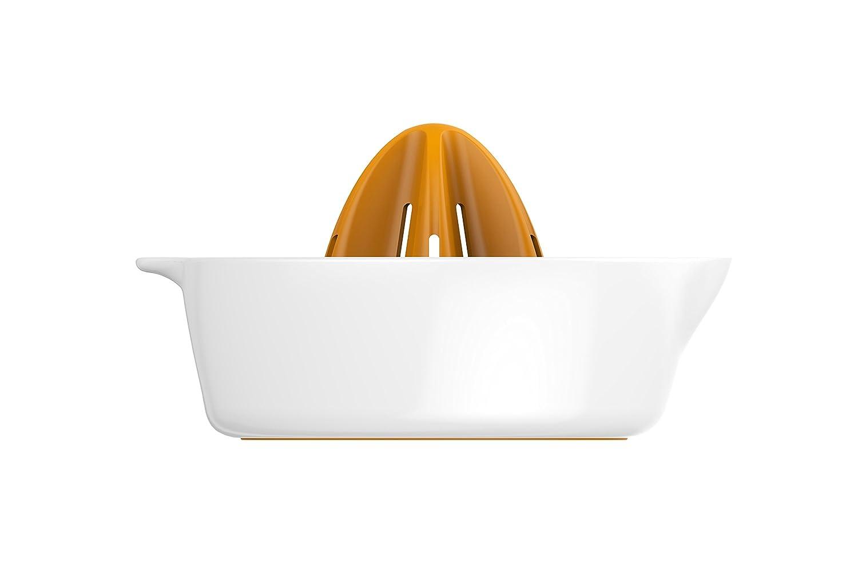 Compra Fiskars Exprimidor con depósito, Diámetro: 11, 9 cm, Plástico, Functional Form, Blanco/Naranja, 1016125 en Amazon.es