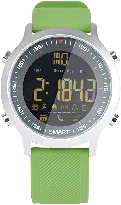 Sport Smart Watch EX18 Smart Watch Sport Watch 5ATM Waterproof Pedometer Bluetooth 4.0 Call SMS Reminder for Android iOS (Green)
