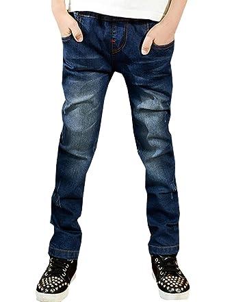 99e5fac46a39c lilii kupulau キッズ デニムパンツ 英字デザイン ポケット 男の子 長ズボン 子供服 ジーパン (110