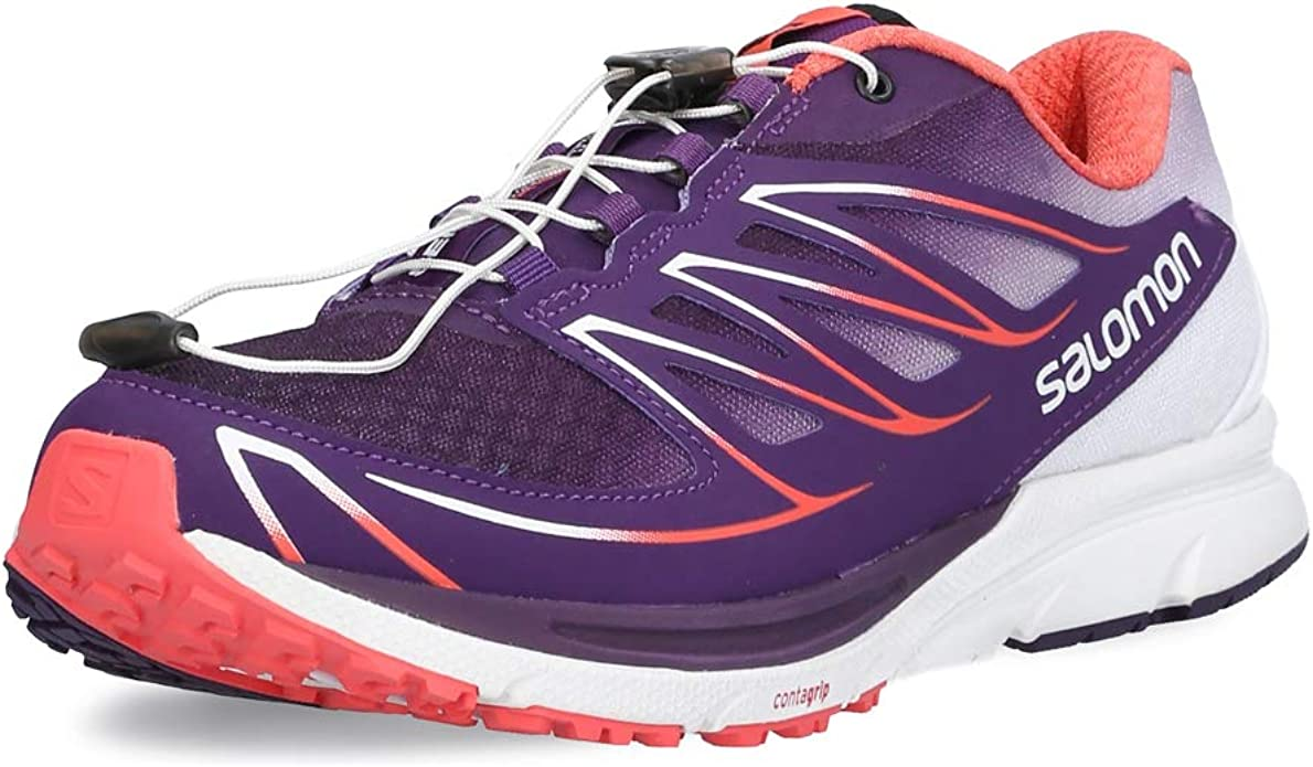 Salomon L39013400, Zapatillas de Trail Running para Mujer, Morado (Cosmic Purple/White/Coral Punch), 45 1/3 EU: Amazon.es: Zapatos y complementos