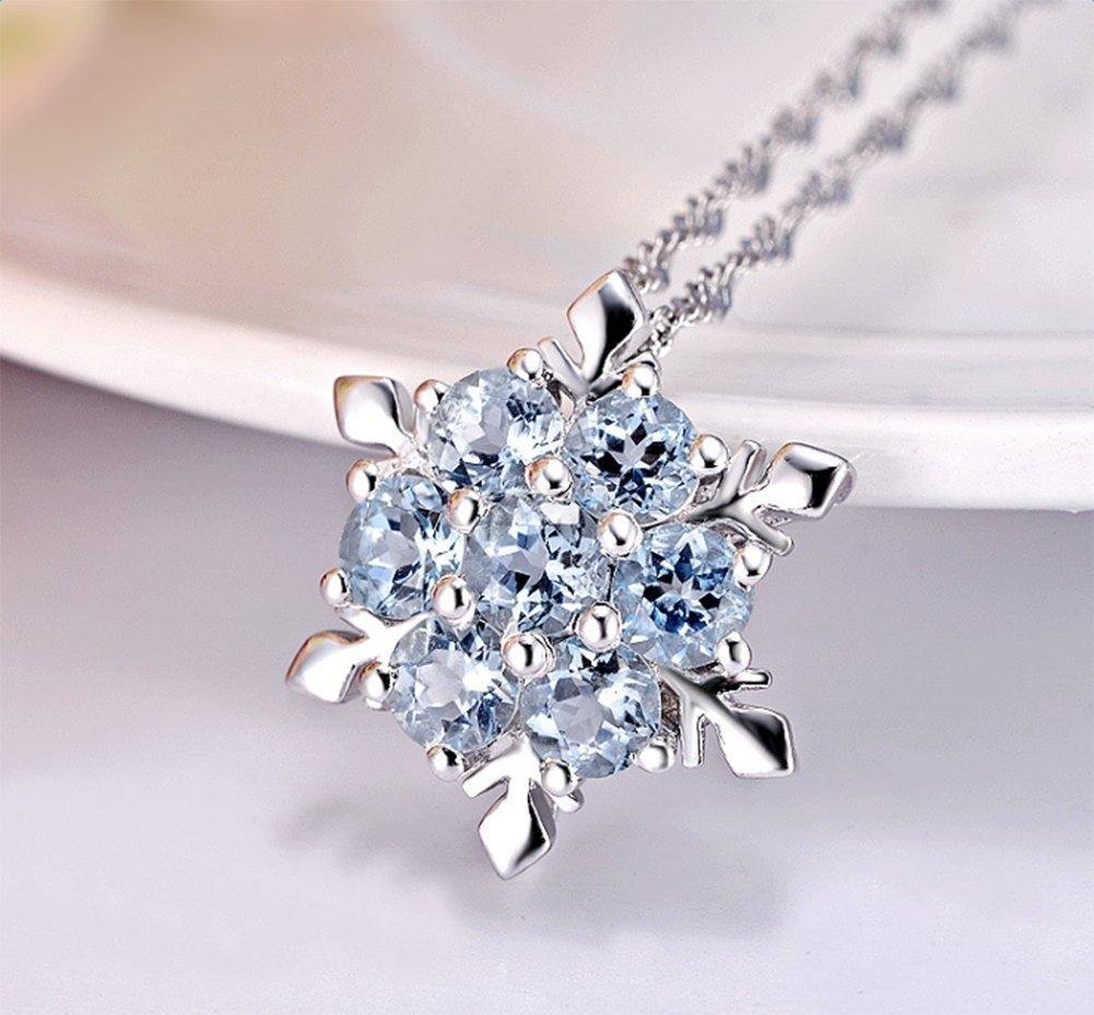 cosanter colgante de mujer ba/ñado en plata azul nieve colgantes collar para las ni/ñas partido prom decoraci/ón regalos de cumplea/ños