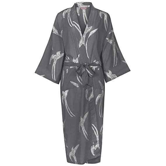 Image Unavailable. Image not available for. Colour  Ladies Cotton Dressing  Gown Kimono Robe   Lightweight ... bcdca1a77