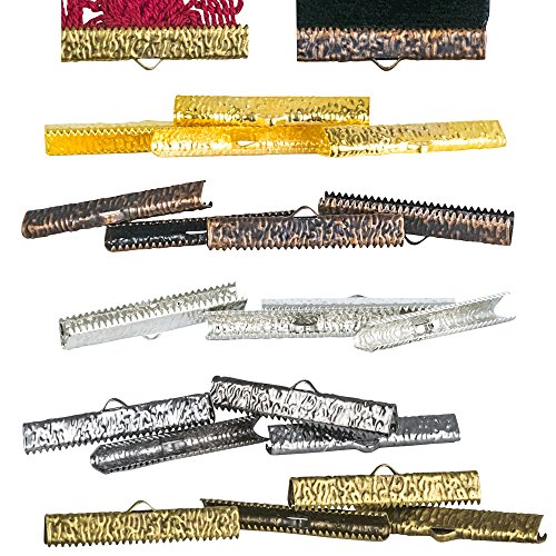 Twilight's Fancy 20 pieces - 35mm or 1 3/8 inch Mixed Finish Ribbon Clamps - Artisan Series