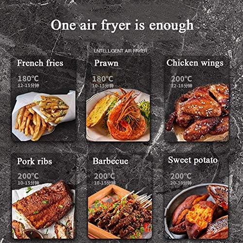 5L multifonction Air Fryer, Chicken Hot Air friteuses sans huile Santé Friteuse Four Pizza Cooker déshydrateur Smart Touch Lcd électrique Airfryer standard YZPFSD