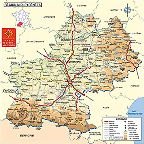 Carte Poster Midi Pyrenees Cartes Facicules Regions French Edition Collectif 3133090533466 Amazon Com Books