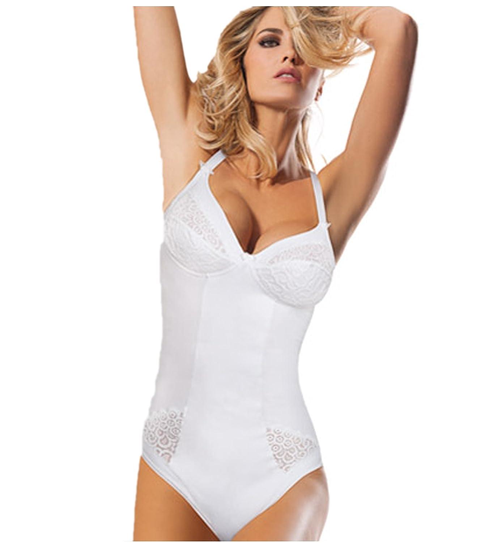 LORMAR Women's Bodysuit White white Small