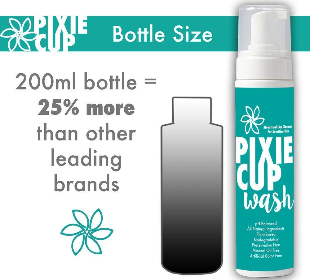 Pixie Cup Mejor que la diva menstrual Copa líquido de lavar que hace espuma Dispensador todo orgánico y natural de los ingredientes más saludables y más ...