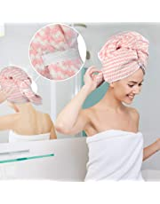 VIVOTE Microfibre Hair Towel, 55 x 110 CM, Shower Hair Dry Wrap Towel, Ultra Absorbent, Fast Drying, Super Soft, Anti Frizz, Long Thick Curly Hair Drying Towel, Large