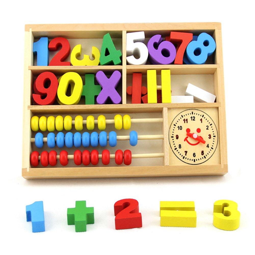 Zantec Juguete educativo de madera de matemáticas juego de mesa de ...