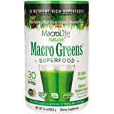 MacroLife Naturals Macro Greens Superfood Powder - Organic, Vegan Green Powdered Supplement Blend for Smoothies & Juice…