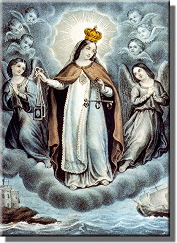 Our Lady of Mercy Religious Picture on Stretched Canvas, Wall Art Decor, Ready to Hang! by ArtWorks Decor
