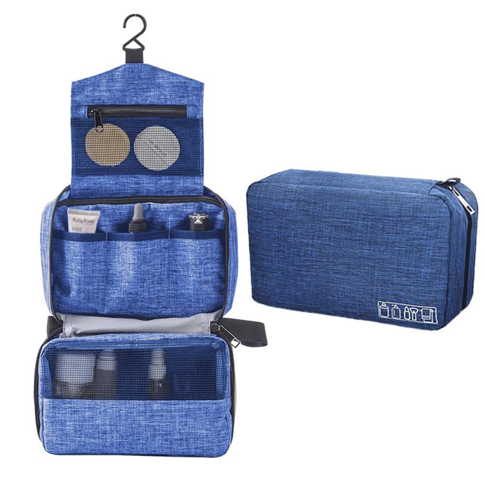 Travel Hanging Toiletry Bag Waterproof Cosmetic Organizer Bags Shower Bathroom Shaving Kit for Men and Women,Blue