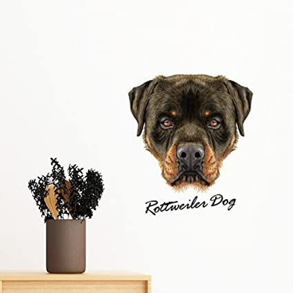 Amazon Com Black Ferocious Rottweiler Dog Pet Animal Removable Wall