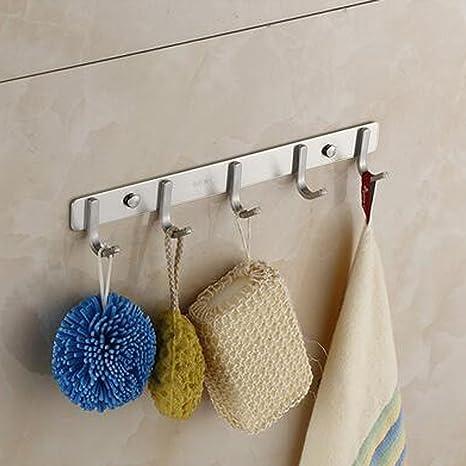 Perchero colgador, ulifestar camisa de la puerta de pared para toalla de ganchos para colgar ropa ...