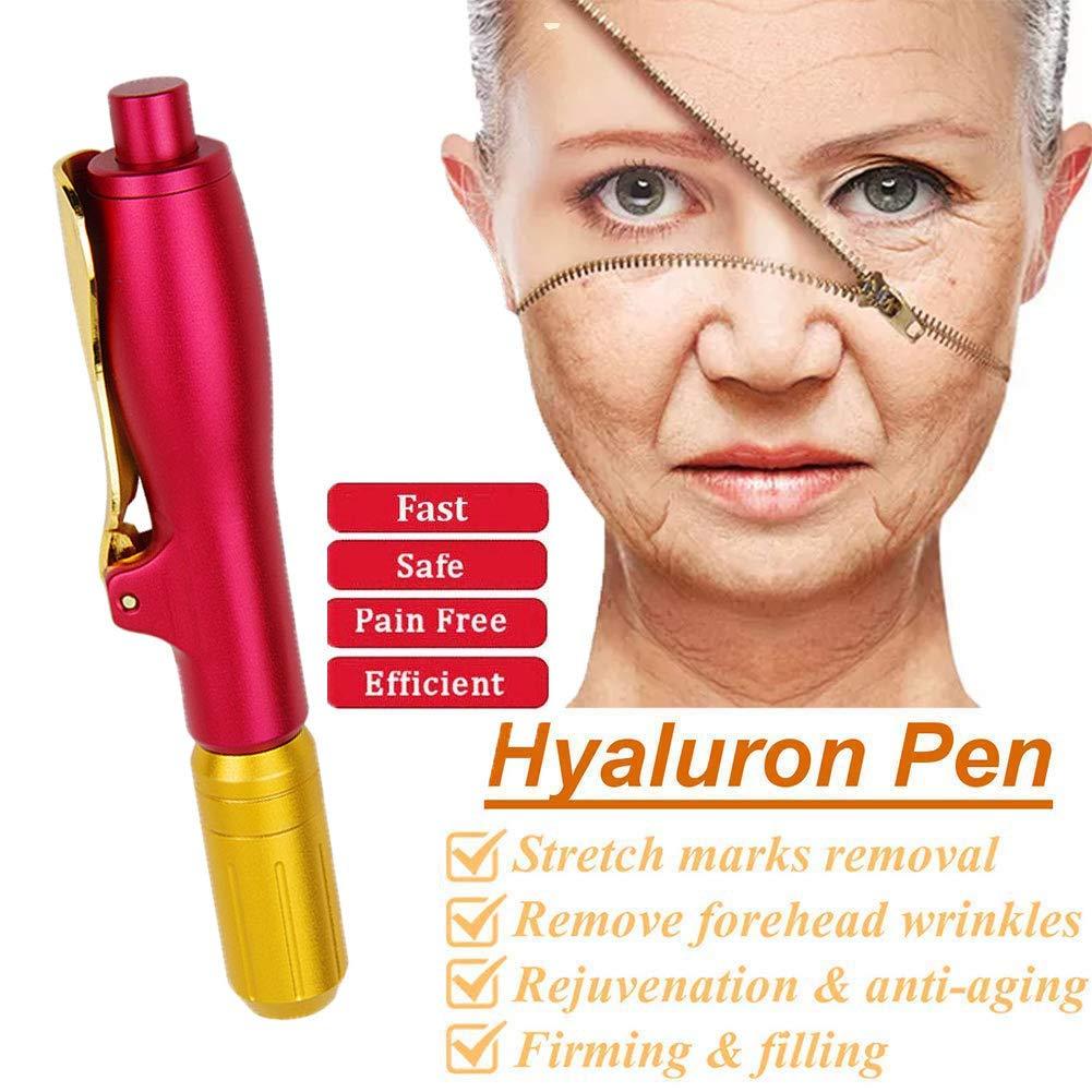 MZBZYX Adjustable Hyaluronic Injection Pen,Noninvasive Nebulizer Hyaluronic Acid Syringe for Reduce Blemishes Wrinkles,Enhance The Skin Restore Skin Elasticity,A