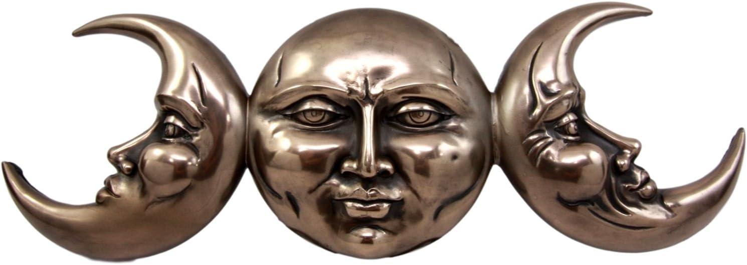 "Ebros Triple Goddess Moon Mother Maiden Crone Hanging Wall Decor Sculpture Plaque Figurine 15.25""H"