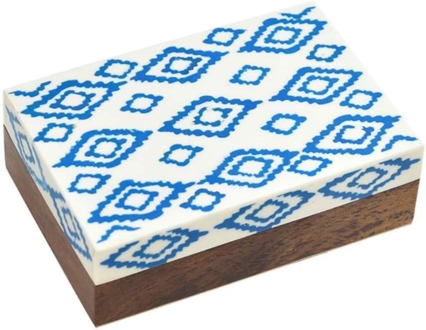Cajas de joyería DJSSH joyero Caja Azul y Blanca de la joyería de Almacenamiento patrón de Caja joyero de la decoración DJSSH: Amazon.es: Hogar