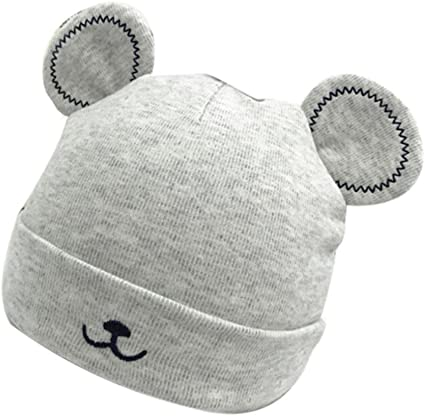 Infant Warm hat Boys and Girls Universal hat Knit hat Bear Ears Wool Cap Baby hat