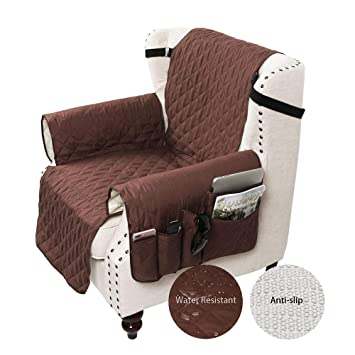 Miraculous Sanli Chair Cover With Tv Remote Control Holder Armrest Organizer Sofa Chair Protector With 5 Pocket Armchair Caddy Chair Size 22 Coffee Machost Co Dining Chair Design Ideas Machostcouk
