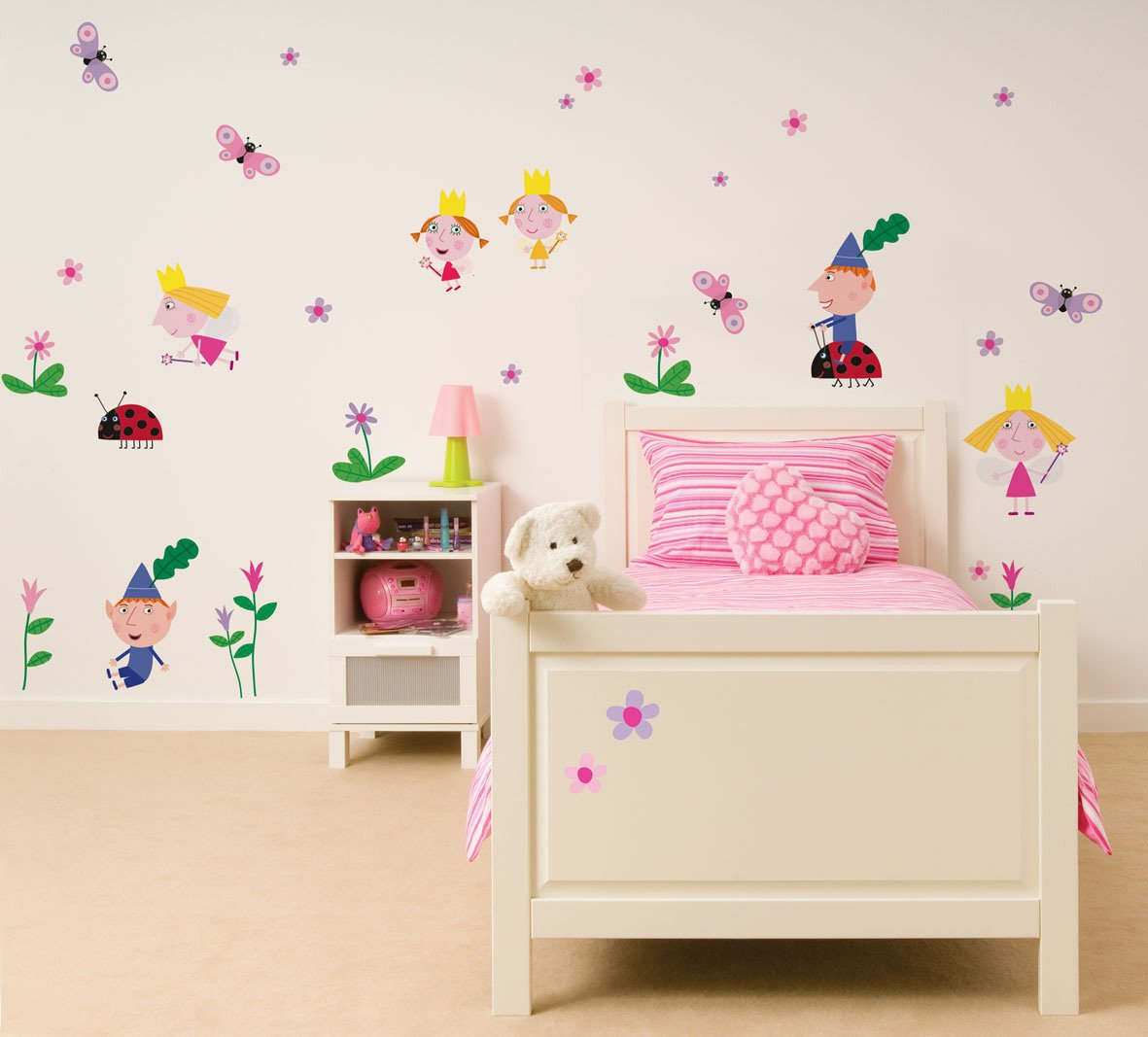 Fun4walls repositionable wall stickers ben and holly stickarounds fun4walls repositionable wall stickers ben and holly stickarounds amazon kitchen home amipublicfo Images
