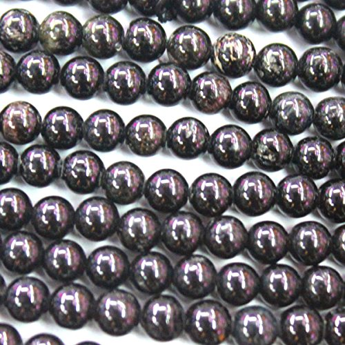 (Natural Black Tourmaline Round Jewelry Making Gemstone Beads (6mm))