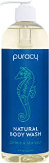 product image for Puracy Natural Body Wash, Sulfate-Free Bath and Shower Gel, Citrus & Sea Salt, 16 Fl Oz (Pack of 1)