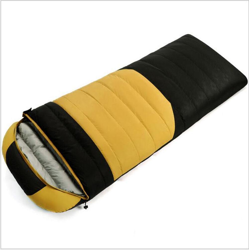 jaune noir 1000 grams of cashmere Z&HX sportsSacs de Couchage pour Adultes Sachet de d¨¦jeuner enveloppes Sacs de Couchage Sac de Couchage de Canard Blanc